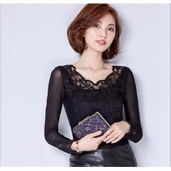 Áo kiểu phối ren thời trang cao cấp 2016 - MZ307
