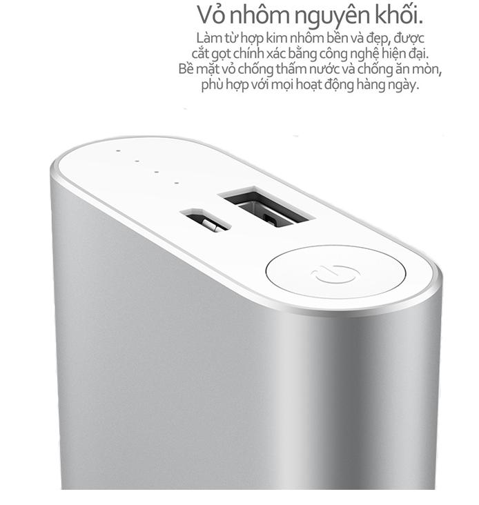 Pin sạc dự phòng Xiaomi Powerbank Silver - 10,000 Mah 4