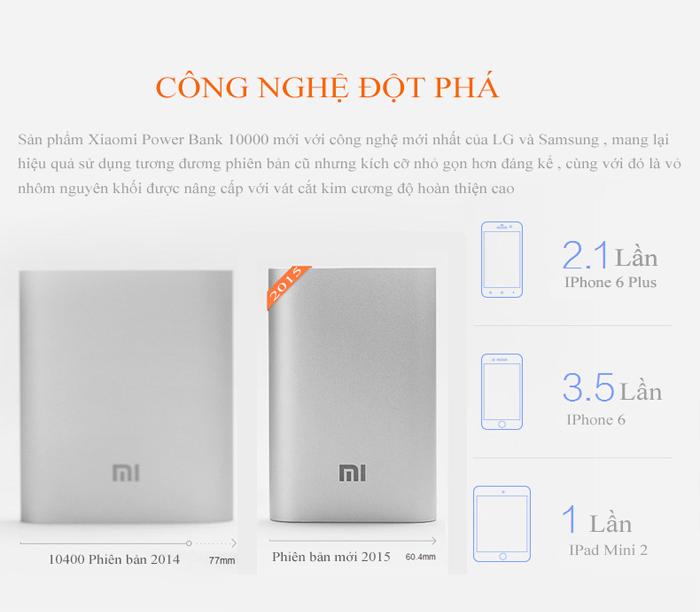 Pin sạc dự phòng Xiaomi Powerbank Silver - 10,000 Mah 2