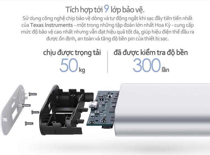 Pin sạc dự phòng Xiaomi Powerbank Silver - 10,000 Mah 3
