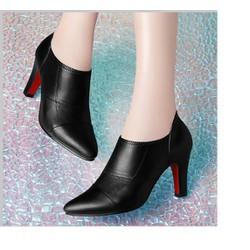 hàng cao cấp - Giày boots cổ ngắn sang trọng