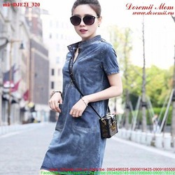 Đầm jean suông cổ trụ xinh xắn cực đáng iu uDJE21