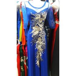 Đầm dạ hội họa tiết hoa sang trọng HB89