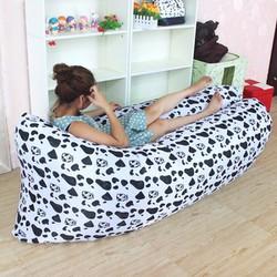 Ghế sofa giường ngủ đệm hơi thông minh bông trắng đen