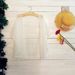 Áo khoác kimono tua rua