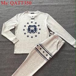 Sét thể thao nữ áo dài tay phối quần dài in ngôi sao trẻ trung QATT350