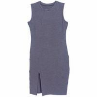 Áo Váy Đầm Nữ Sát Nách Dáng Form Dài Bodycon Midi Cắt Xẻ DAM 0059 CHA