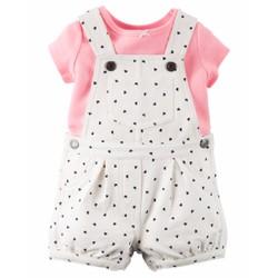 SET quần yếm cho bé gái dưới 1 tuổi