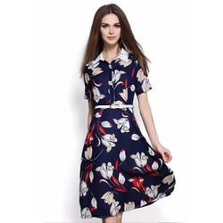Đầm xòe chất liệu voan chiffon cao cấp thiết kế độc quyền bởi Ivinci