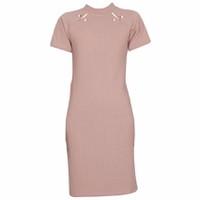 Áo Váy Đầm Len Mỏng Dáng Form Dài Midi Ngắn Tay Cổ Tròn DAM 0062 BP