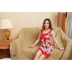 Đầm mặc nhà màu đỏ