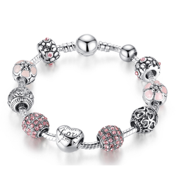 Vòng tay hạt charm đẹp tuyệt - VT01455