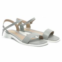 Giày sandal nữ quai ngang xám