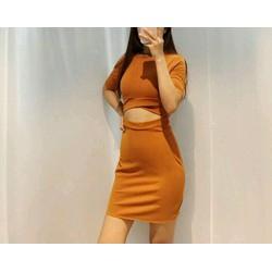 Đầm body chéo bụng