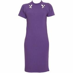 Áo Váy Đầm Len Mỏng Dáng Form Dài Midi Ngắn Tay Cổ Tròn DAM 0062 P