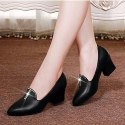 hàng nhập cao cấp - Giày da xịn cao cấp đính đá