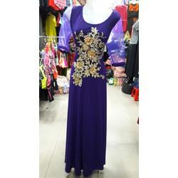 Đầm dạ hội họa tiết hoa sang trọng HD89