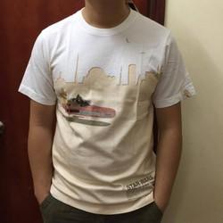 Áo phông nam Tshirt trắng hình Star wars
