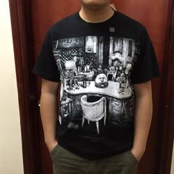 Áo phông nam Tshirt đen sz L