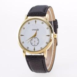 Đồng hồ dây da OWAGE - Sang trọng đơn giản cho cả nam và nữ