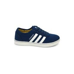 Giày thể thao nam xanh dương sọc trắng E216