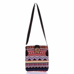 Túi đeo chéo thời trang thổ cẩm cút dừa độc đáo Hoian Gifts