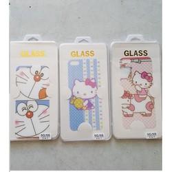 Cường lực hình doremon và hello kitty dễ thương iphone 5 , 5s
