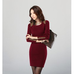 Đầm  nữ dài tay thời trang, thiết kế mới sang trọng, hợp thời trang