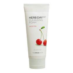 Sữa Rửa Mặt Herb Day 365 Cleansing Foam Acerola Cherry TheFaceShop