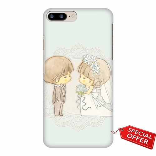 Ốp lưng Iphone 7 Plus_Chibi_Happy wedding