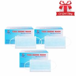 Khẩu trang y tế THÁI DƯƠNG MASK 3 lớp kháng khuẩn 50 chiếc Màu xanh