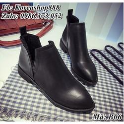Giày Bốt Cổ Ngắn Hàn Quốc Mã B06
