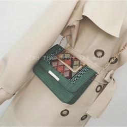 Túi đeo vai đeo chéo họa tiết thổ cẩm TX01