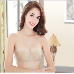 Áo ngực nữ cúp ngang không dây quyến rũ - Màu Nude