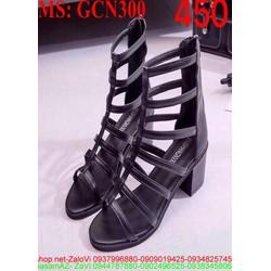 Giày cao gót nữ chiến binh gót vuông thời trang
