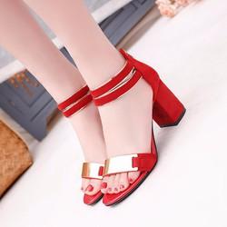 Giày Sandal nữ 7cm đế vuông