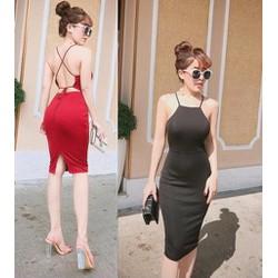Đầm body hở lưng sexy cao cấp