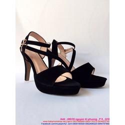 Giày cao gót hỡ mũi thiết kế quay chéo 2 dây sành điệu