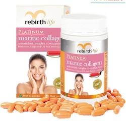 Bổ sung collagen cho làn da Rebirth Platinum Marine Collagen 60 viên