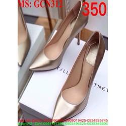 Giày cao gót nữ mũi nhọn da bóng sang trọng