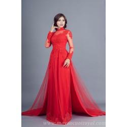 Áo cưới đỏ cao cấp