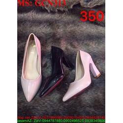 Giày cao gót nữ mũi nhọn gót vuông sành điệu