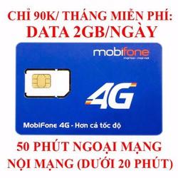 SIM MOBI 4G NGHE GỌI MIỄN PHÍ KÈM 60GB DATA