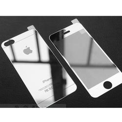 Kính Cường Lực Tráng Gương 2 Mặt Dành Cho IPhone 5 , 5s bạc