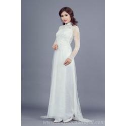 Áo dài cưới trắng đẹp
