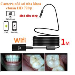 Camera nội soi phát Wifi  độ nét cao HD720p cáp cứng định hình dài 1m