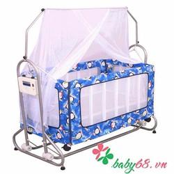 Nôi cũi giường trẻ em 2 trong 1 hai tầng Autoru 4 sao