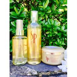 Bộ 3 sản phẩm cao cấp chăm sóc tóc tại nhà SP LUXEOIL