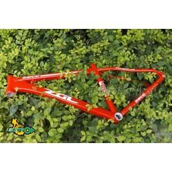 Khung sườn xe đạp MTB đỏ size 16