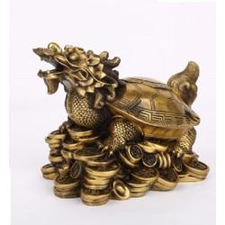 Tượng rùa bát quái bằng đồng kích thước lớn linh vật phong thủy